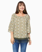 Charming charlie Falling Leaves Fringed Top