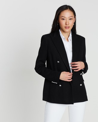 Polo Ralph Lauren Double-Breasted Structured Cotton Blazer