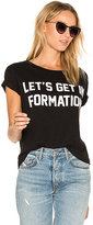 Private Party Let's Get In Formation Tee in Black