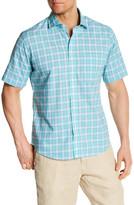 Toscano Short Sleeve Plaid Regular Fit Shirt