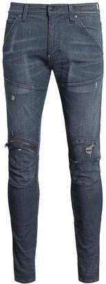 G Star Zip Knee 3D Distressed Skinny Jeans