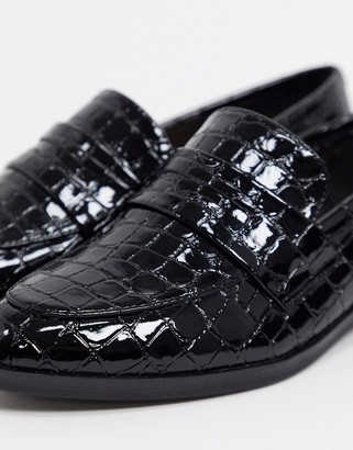 Aldo langlet smart loafers in black