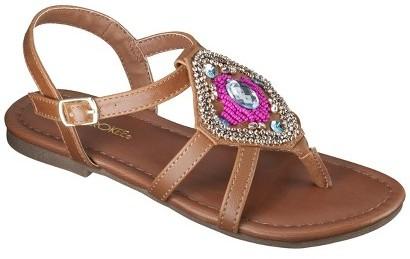 Cherokee Girl's Frances Huarache Sandals - Tan