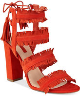 GUESS Women's Econi Strappy Block-Heel Dress Sandals