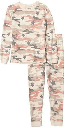 P.J. Salvage Kids Follow the Stars Camo Peachy Two-Piece Jammie Set (Toddler/Little Kids/Big Kids) (Oatmeal) Kid's Pajama Sets