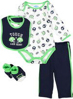 Bon Bebe Navy & Mint Football Bodysuit Set - Infant
