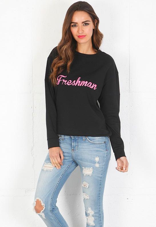 Pencey Freshman Sweatshirt in Black