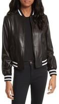 Alice + Olivia Women's Demia Embellished Crop Leather Bomber Jacket