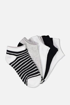 Cotton On Kids 5Pk Ankle Sock
