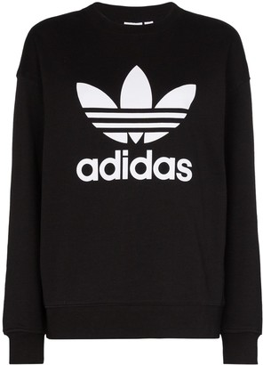 adidas Logo-Print Cotton Sweatshirt