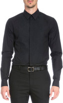 Givenchy Leo Embroidered-Bib Tuxedo Shirt, Black