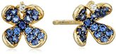 Tai Blue Pave Flower Post Earrings