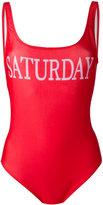 Alberta Ferretti Saturday swimsuit - women - Polyester/Spandex/Elastane - 42