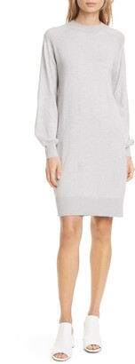 Club Monaco Madisson Long Sleeve Cotton & Wool Blend Sweater Dress