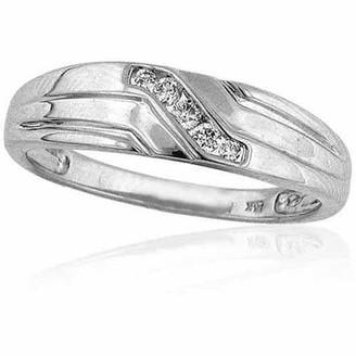 Imperial Diamond Men's 1/6 Carat T.W. Diamond 10kt White Gold Wedding Band