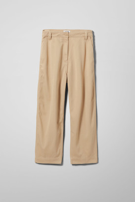 Weekday Tami Trousers - Beige