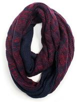 Muk Luks Women's Reversible Marled Cable Infinity Scarf