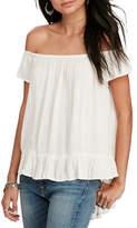 Denim & Supply Ralph Lauren Crepe Off-the-Shoulder Blouse