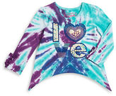 Flapdoodles Girls 2-6x Sequin Tie-Dyed Top