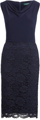 Ralph Lauren Lace Cowlneck Cocktail Dress