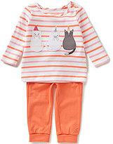 Joules Baby Girls Newborn-12 Months Poppy Cat Striped Top & Pants Set