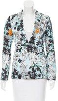 MSGM Floral Printed Long Sleeve Blazer
