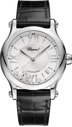 Chopard Happy Sport Stainless Steel, Diamond & Alligator-Strap Watch