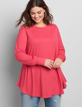 Lane Bryant Blouson Long-Sleeve Max Swing Tee