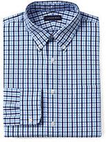 Classic Men's Tall Tailored Fit 40s Poplin Dress Shirt-Boreal Moss Multi Gingham