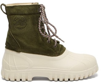 Diemme Anatra Suede Rain Boots - Green White
