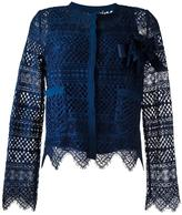 Twin-Set embroidered shirt - women - Cotton/Polyamide/Polyester/Viscose - 40