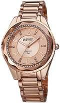 August Steiner Women's AS8122RG Swiss Quartz Diamond Dial Rose-tone Bracelet Watch