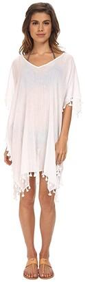 Seafolly Future Tribe Amnesia Kaftan Cover-Up (White) Women's Swimwear