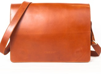 Neyuh Leather The Street Messenger Bag Brown