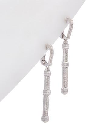Judith Ripka Little Luxuries Silver 0.12 Ct. Tw. White Topaz Earrings
