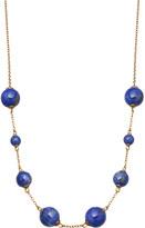 Astley Clarke Peggy yellow-gold vermeil & lapis necklace