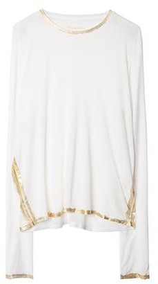 Zadig & Voltaire Willy Gold Foil Long Sleeve Tee