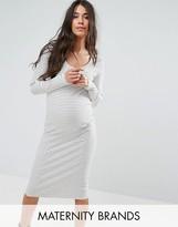 Mama Licious Mama.licious Mamalicious Stripe Jersey Dress