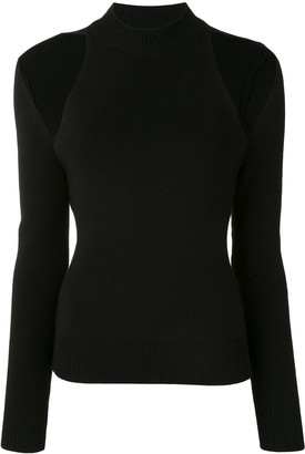Monse Fitted Cold-Shoulder Jumper