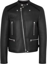 Lanvin Black Shearling Biker Jacket