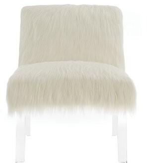 """Everly Quinn Casandria 23.5"""" W Faux Fur Slipper Chair"""