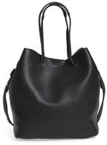 Street Level Faux Leather Bucket Bag - Black