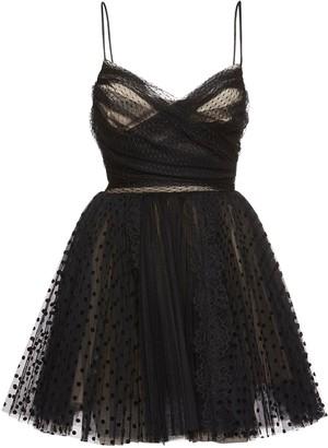 BROGNANO Plumetis Ruffled Tulle Mini Dress