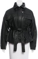 Marissa Webb Oversize Distressed Leather Jacket w/ Tags