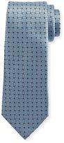 Ermenegildo Zegna Braided Neat Silk Tie, Blue