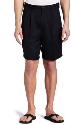 Haggar Men's Big-Tall Cool 18 Gabardine Hidden Expandable Waist Pleat Front Short
