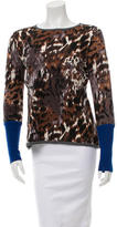 Yigal Azrouel Printed Crew Neck Sweater