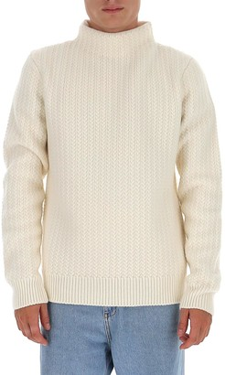Dolce & Gabbana High-Neck Cable Sweater