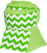 Baby Doll Bedding Chevron Round Crib Bumper and Sheet Set, Green