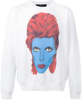 John Richmond David Bowie print sweatshirt - men - Cotton/Polyester - S